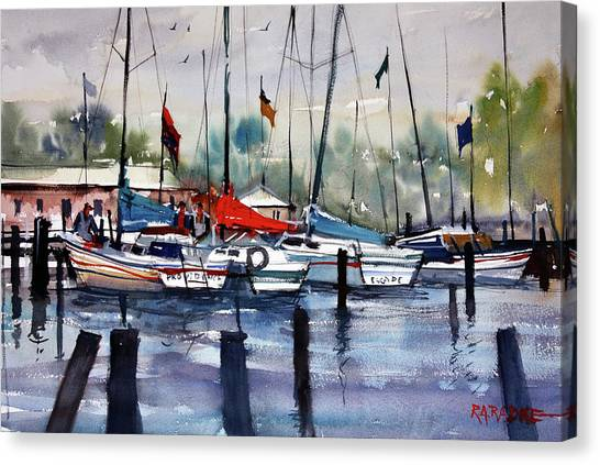 Menominee Marina Canvas Print