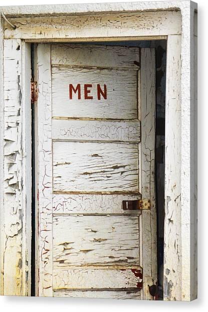 Men's Room Canvas Print