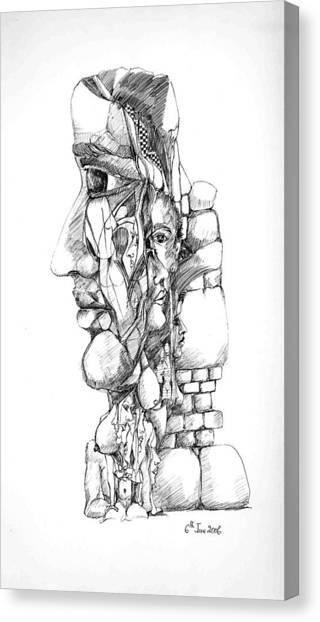 Mental Images 1 Canvas Print by Padamvir Singh