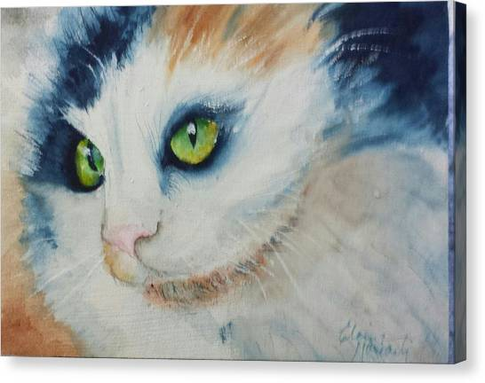 Meow II Canvas Print by Elaine Frances Moriarty