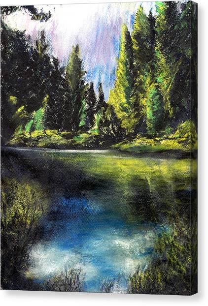 Merced River Bank Canvas Print