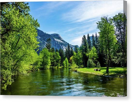 Merced River In Yosemite Valley Canvas Print