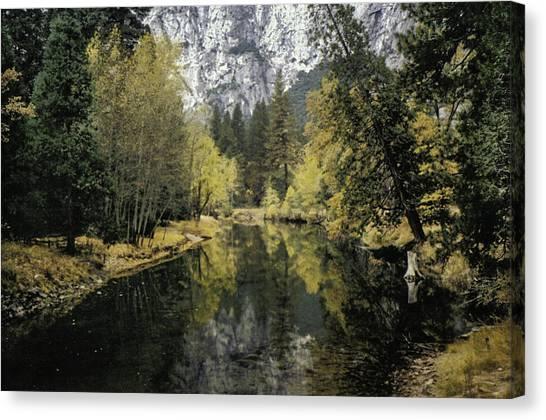 Merced River Reflection Canvas Print