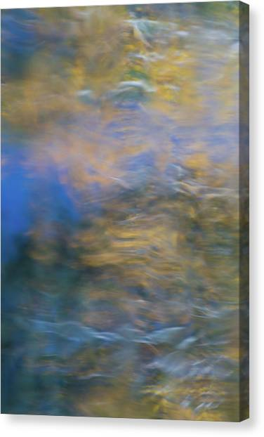 Yosemite Canvas Print - Merced River Reflections 18 by Larry Marshall