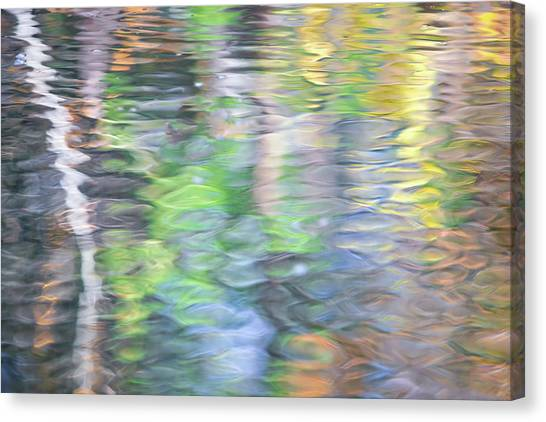 Cloud Forests Canvas Print - Merced River Reflections 9 by Larry Marshall