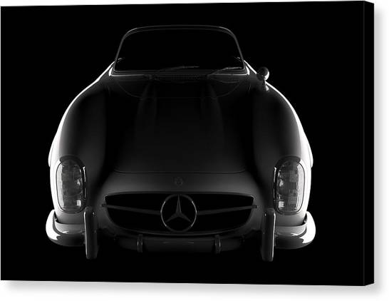 Mercedes 300 Sl Roadster - Front View Canvas Print