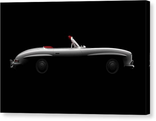 Mercedes 300 Sl Roadster - Side View Canvas Print