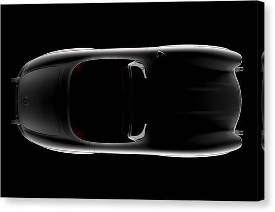 Mercedes 300 Sl Roadster - Top View Canvas Print