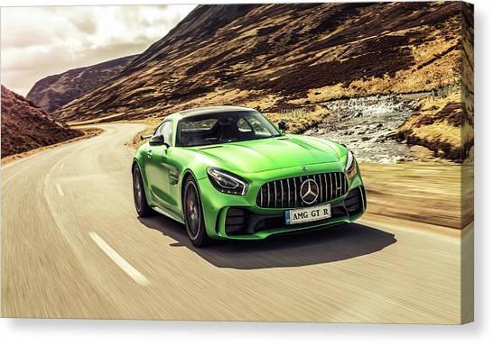 Mercedes A M G  G T  R Canvas Print