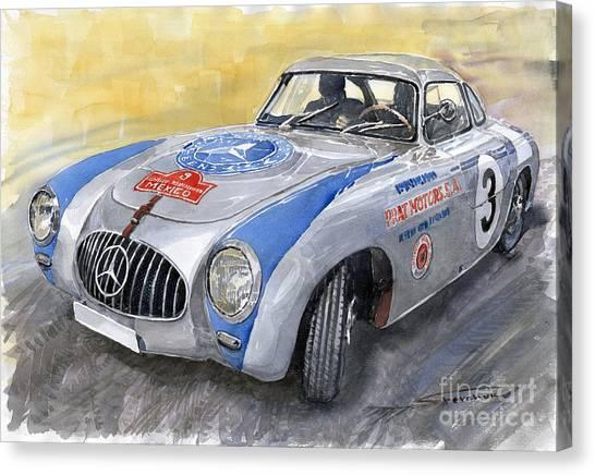 Automotive Canvas Print - Mercedes Benz 300 Sl 1952 Carrera Panamericana Mexico  by Yuriy Shevchuk