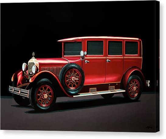 Race Cars Canvas Print - Mercedes-benz Typ 300 Pullman Limousine 1926 Painting by Paul Meijering