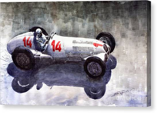 Auto Canvas Print - Mercedes Benz W 125 1937 Swiss Gp R Caracciola by Yuriy Shevchuk