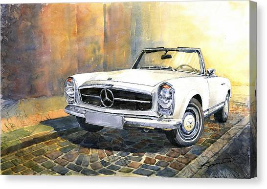 Classic Canvas Print - Mercedes Benz W113 280 Sl Pagoda Front by Yuriy Shevchuk