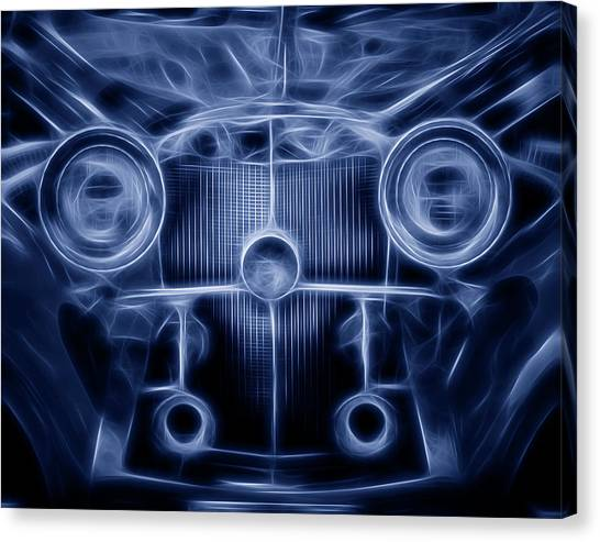 Grills Canvas Print - Mercedes Roadster by Tom Mc Nemar