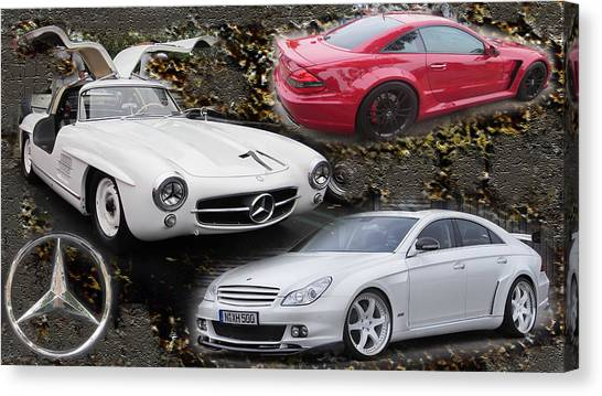 Mercedes Tribute Canvas Print by Michael Burleigh