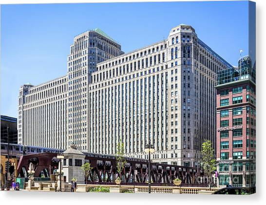 Merchandise Mart Overlooking The L Canvas Print