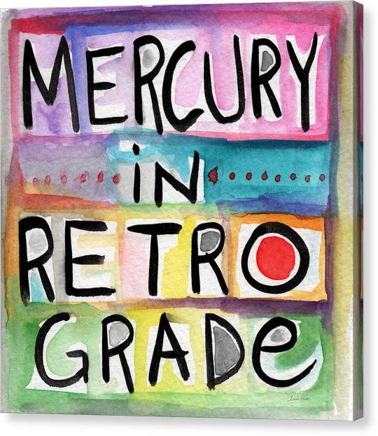 Mercury Canvas Print - Mercury In Retrograde Square- Art By Linda Woods by Linda Woods