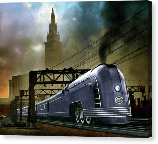 Mercury Train Canvas Print