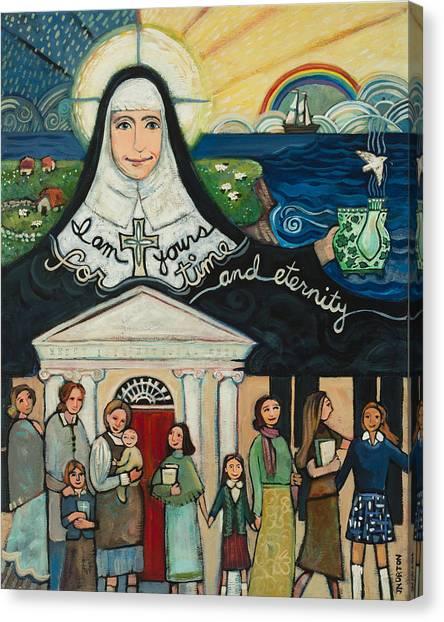 Nuns Canvas Print - Mercy Foundress Catherine Mcauley by Jen Norton