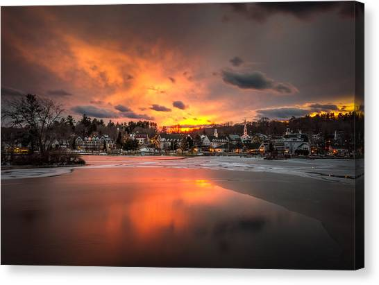 Meredith Sunset Canvas Print