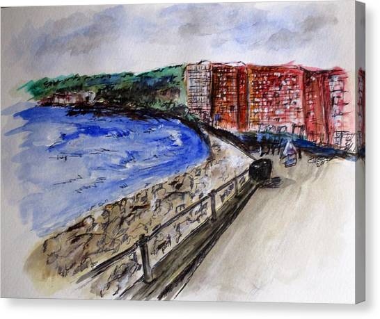 Mergelina Way Napoli Canvas Print