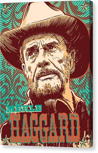 Merle Haggard Pop Art Canvas Print