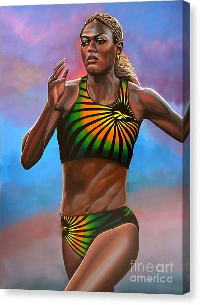 Jamaican Canvas Print - Merlene Ottey by Paul Meijering