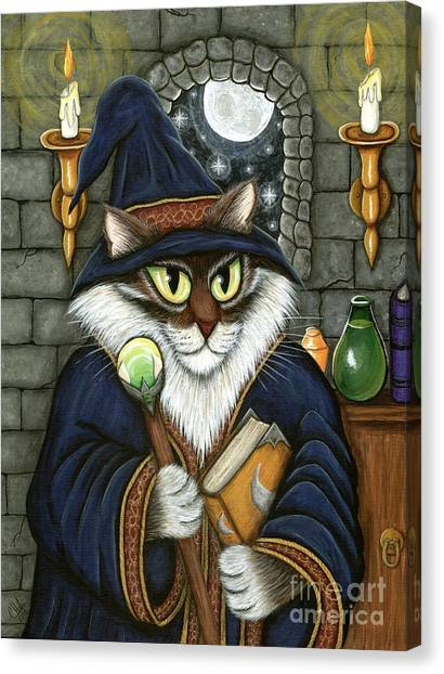 Main Coons Canvas Print - Merlin The Magician Cat by Carrie Hawks