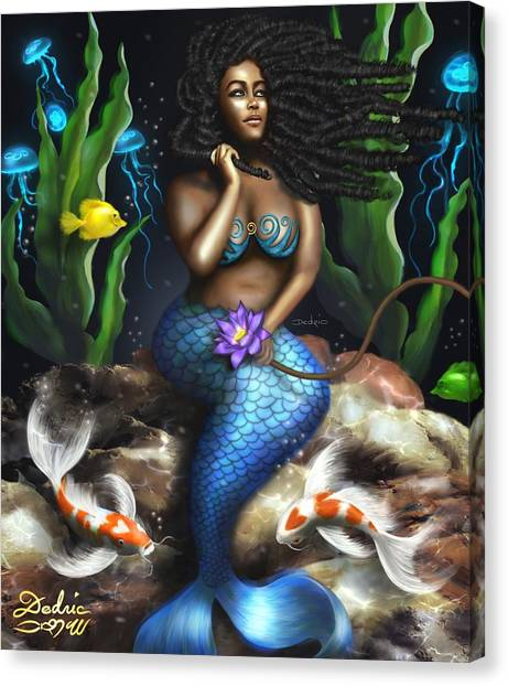 Yemaya Mermaid  Canvas Print