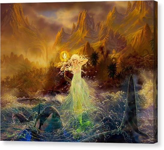 Mermaid Enchantress Canvas Print