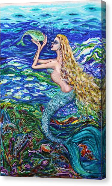 Mermaid Fishnet  Canvas Print