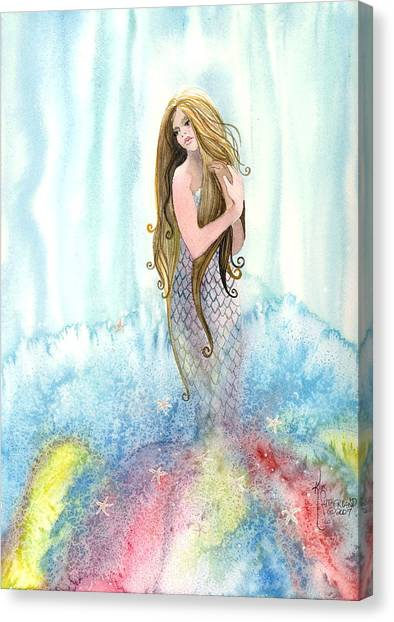 Mermaid In The Mist Canvas Print
