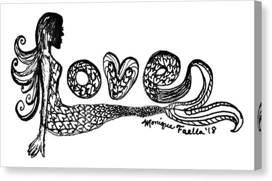 Mermaid Love Canvas Print