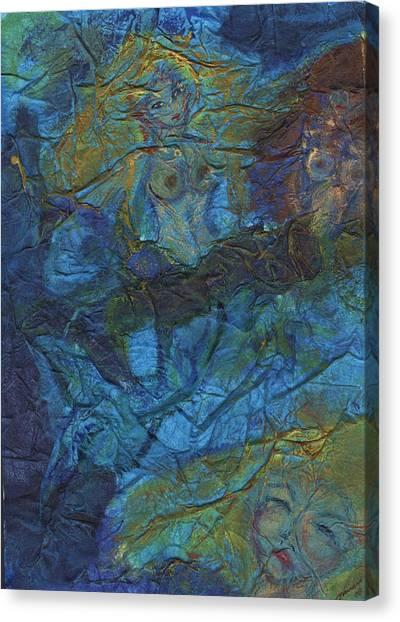 Mermaid Musings Canvas Print by Cathy Minerva