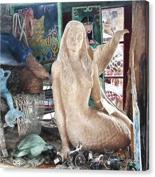 Mermaid Pondering Canvas Print