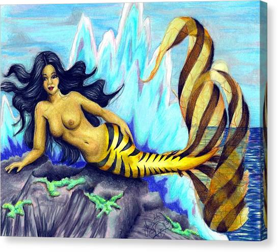 Mermaid Canvas Print by Scarlett Royal