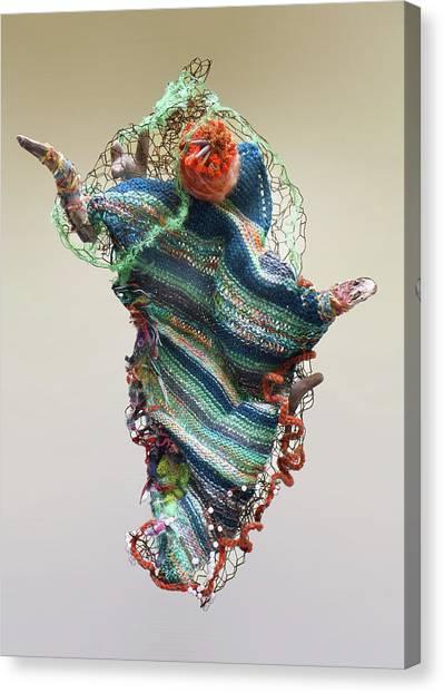 Mermaid Sculpture Canvas Print