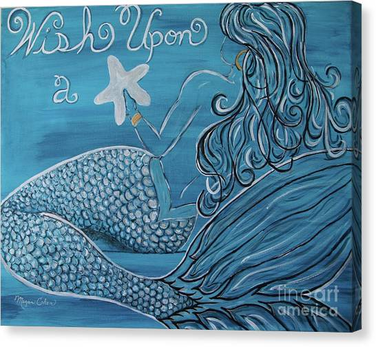 Canvas Print - Mermaid- Wish Upon A Starfish by Megan Cohen