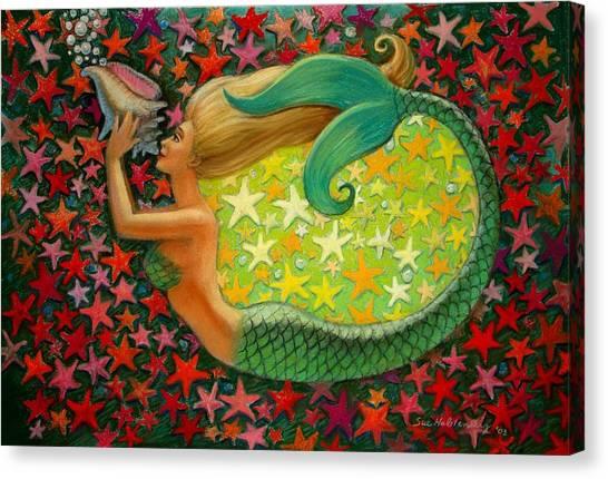 Mermaid's Circle Canvas Print