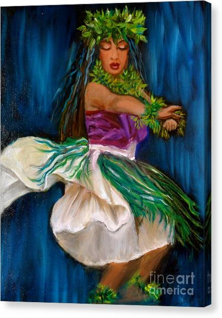 Merrie Monarch Hula Canvas Print