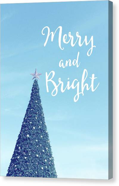 Tree Canvas Print - Merry And Bright - Art By Linda Woods by Linda Woods