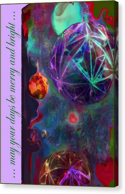 Merry And Bright Holidays Canvas Print