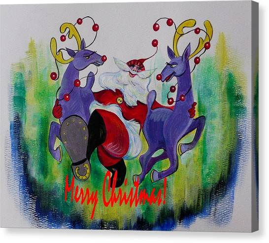 Merry Christmas Canvas Print by Anna  Duyunova
