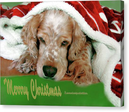 Merry Christmas Art 32 Canvas Print