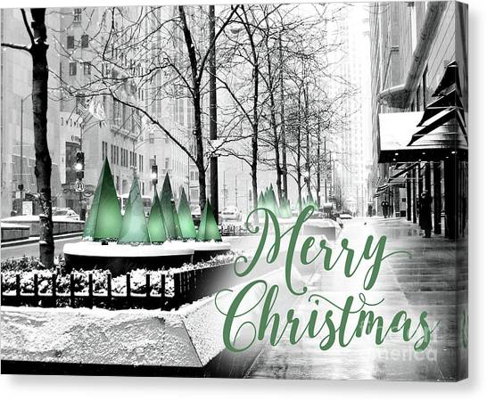Merry Christmas Chicago Canvas Print