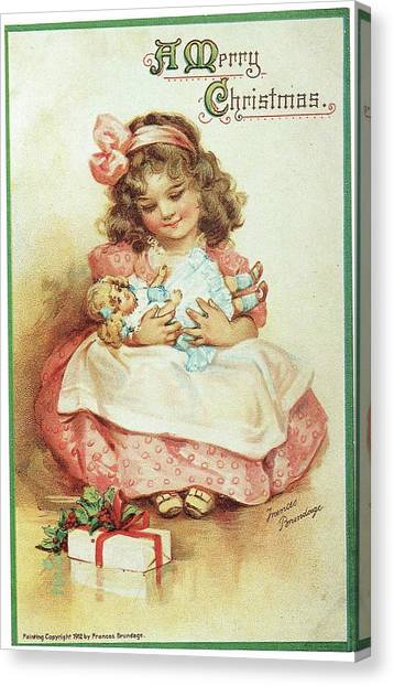 Merry Christmas For My Dolly Canvas Print