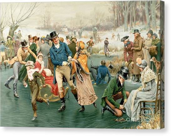 Snowball Canvas Print - Merry Christmas by Frank Dadd