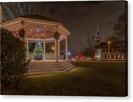 Merry Christmas From Milton Massachuetts Canvas Print