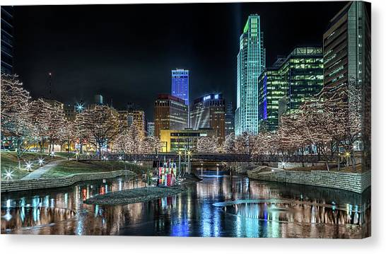 Merry Christmas Omaha Canvas Print