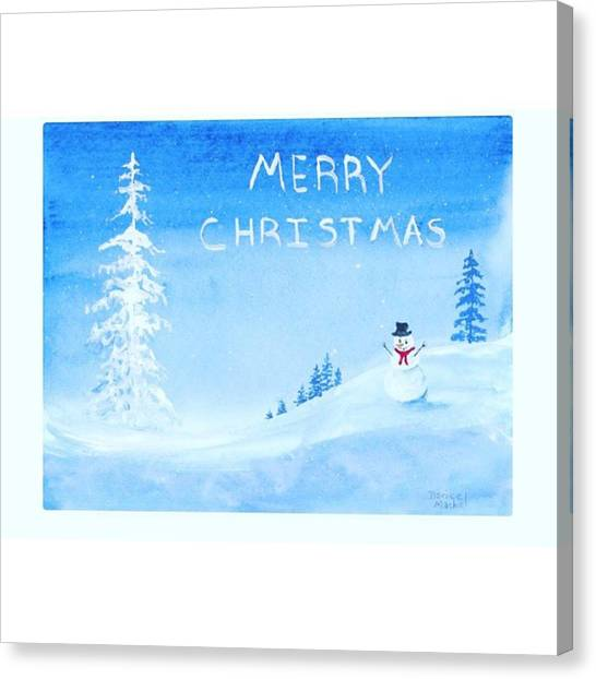 Holidays Canvas Print - Merry #christmas Snowman Available On by Darice Machel McGuire